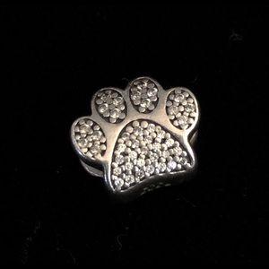 Pandora Sterling Crystal Paw Bead